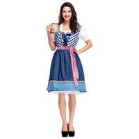 ropa oktoberfest al por mayor-Fiesta conjunto Mujeres Oktoberfest Bavarian traje de la cerveza vestido de las señoras del carnaval Fiesta de disfraces Cosplay Ropa Adulto Set