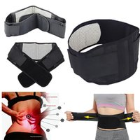 Wholesale therapy bands - Adjustable Tourmaline Self-heating Magnetic Therapy Waist Belt Lumbar Support Back Waist Support Brace Double Banded aja lumbar