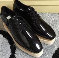 571ff6edff4ca 2018 nuevos zapatos Stella Mccartney zapatos de mujer de alta calidad al  por mayor Zapatos Elyse Star Wedge Britt zapatos con cordones 81536