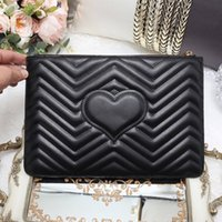 Wholesale Envelope Green - women luxury brand envelope clutch bag Genuine Leather handbags quilted heart women hand bags day clutches purse briefcase handbag