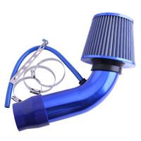 filtros de ar de fluxo venda por atacado-Filtro de Admissão Do Motor Do Carro Universal Filtro de Ar Cabeça de Cogumelo Filtro De Admissão De Ar De Alumínio Da Tubulação de Mangueira De Fluxo De Potência Kit