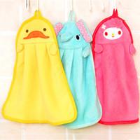 Wholesale children hankies - Cute Animal Handkerchief Microfiber Healthy Kids Children Cartoon Absorbent Hand Dry Towel Lovely Soft Comfortable Hanky Baby Care