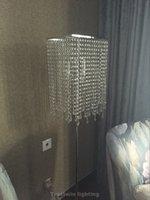 supports à cristaux liquides achat en gros de-Atmosphère élégante lampe de sol de luxe brève mode romantique lampe de chevet debout E14 carré k9 lampe de sol en cristal de haute qualité