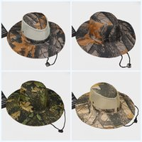 1698b1a4cbfbf1 Summer Jungle Outdoor Bucket Hat Sunscreen Creative Fisherman Leaf Cap  Camouflage Flexible Tactical Boonie Caps For Mens Portable 4 6hs jj