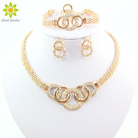 Wholesale vintage jade set for sale - Group buy Fashion Fine Jewelry Sets African Beads Collar Statement Necklace Earring Bracelet Ring For Women Jewelry Sets Vintage Party Accessories