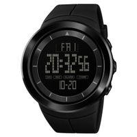 круглые дисплеи оптовых-2018 New Hot Popular  Sports Round Dial Date Display Backlight Electronic Digital Men Wrist Watch