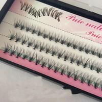 kirpik kümeleri toptan satış-Toptan 10 Kökleri 60 adet Makyaj Bireysel Küme Göz Lashes Doğal Uzun Yumuşak Aşılama Sahte Yanlış Eyelashes