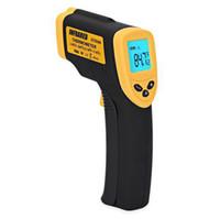infrared lazer nokta termometre toptan satış-Temassız Dijital Kızılötesi Lazer IR Termometre Lazer Noktası-50 ~ 380 Derece