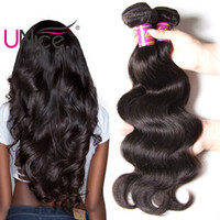 Wholesale Cheap Wavy Remy Hair - UNice Hair Unprocessed Peruvian Body Wave 5 Bundles Remy 100% Human Hair Extensions Wholesale Cheap Nice Bulk Wet And Wavy Body Hair