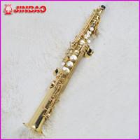 jinbao achat en gros de-Originale jinbao JBSST-400 Haute-hauteur Saxophone Soprano One Piece Droite B Plat Bb Saxe Sax Top Instrument de musique