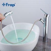 banyo muslukları krom toptan satış-Toptan Pull Out Banyo Havzası Musluklar Pirinç Su Mikser Dokunun Banyo Havzası Tek Kolu Krom torneira Banyo Musluk Mikser Y10114