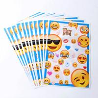 Wholesale Happy Bags - 50pcs lot Cartoon Emoji Loot Bag Party Supplies Happy Birthday Party Decoration Kits Supplies Favors Gift Bag