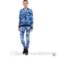 ingrosso fabbrica di seta reggiseno-Vendita diretta in fabbrica, stampa digitale personalizzata, maglione reggiseno a tre pezzi farfalla blu, vendita diretta abito Bottomwear.