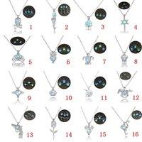 ingrosso pietre scure-16 disegni di lusso bagliore nella collana di pietra scura aprire 3 colori collane ciondolo gabbia di perle luminose per le signore gioielli di moda KKA1703