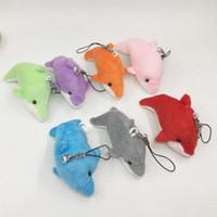 brinquedos de pelúcia dos animais marinhos venda por atacado-Animal Em Forma De Brinquedos De Pelúcia Mini Dolphin Boneca Com Uma Corda Curta Adorável Sea World Toy Presente De Aniversário 0 95nw W