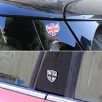 ingrosso auto post metallo-Auto Distintivo Dell'emblema del Metallo Decalcomanie Adesivo Decorativo Per Mini Cooper JCW One Countryman Clubman F55 R60 F60 Car Styling Accessori