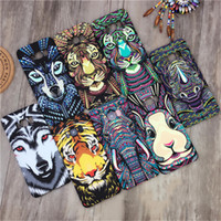 Wholesale tiger galaxy - Night Glow Animal Tiger Elephant Wolf PC Hard Case For Samsung Galaxy s8 s7 edge iphone x 7 plus 8 6 6s cover