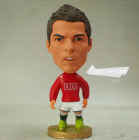 "Wholesale Toy Football Player Figures - Football star Soccer Player Star 7# C.RONALDO (MU-2009) 2.5"" Toy Doll Figure Best Fan gift"