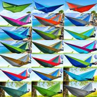 тканевые гамаки оптовых-24 цветов портативный парашют нейлон ткань путешествия кемпинг гамак для двойной человек безопасный открытый парашют 270 х 140 см 600 г путешествия гамак