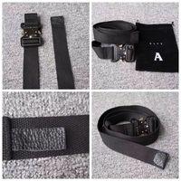 Wholesale metal hip belt resale online - ALYX Belt cm Rollercoaster Metal button canvas Hip hop street wear safety belt