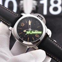 cara de plata reloj deportivo al por mayor-Reloj de hombre Reloj de pulsera con esfera negra, cara negra, caja de acero inoxidable 316L Correa de cuero negro Reloj mecánico automático deportivo