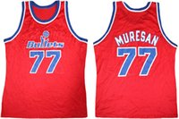 Wholesale bullet custom - Washington Bullets #77 Gheorghe Muresan Red Retro Throwback Basketball Jersey Mens Embroidery Stitched Custom any Number and name Jerseys