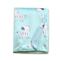cobertores de camada dupla venda por atacado-Cobertor do bebê Nova Marca Engrossar Camada Dupla Coral Fleece Swaddle Envoltório Infantil Envoltório Para O Bebê Recém-nascido Cobertores De Cama Do Bebê