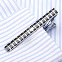 metal gravatas venda por atacado-1 pcs Moda Estilo Tie Clip Para Homens de Metal de Prata tom de Ouro Simples Fecho Bar Prático Gravata Fecho venda Quente