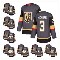 Wholesale Golden Mark - Vegas Golden Knight 2017-2018 New Hockey Jerseys #29 Mark andrey fleury #31 Pickard #3 Mcnabb #13 Leipsic #77 Hunt #89Tuch custom embroidery
