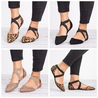 Wholesale wholesale womens heels - Womens Flats Pointed Toe Ankle Buckle Strap Hollow Out Sandals Fashion black brown summer outdoor Shoes LJJG631 10Pairs
