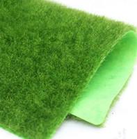 Wholesale Artificial Floor Plants - 15x15cm Grass Mat Green Artificial Lawns Small Turf Carpets Fake Sod Home Garden Moss For home Floor wedding Decoration EEA193 500pcs