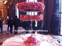 tabelas apenas venda por atacado-suporte mental apenas) mesa central de venda quente mental stand candelabro de casamento com vaso de flores