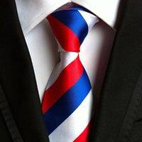 laços formais para homens venda por atacado-Clássico 100% De Seda Dos Homens Laços Novo Design Gravatas Gravatas 8 cm PlaidStriped Laços para Homens Festa de Casamento Negócio Formal Gravata
