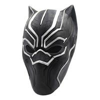 fiesta de la pantera negra al por mayor-Marvel Hero Black Panther Máscaras para Vendetta Máscara Anónima Guy Fawkes Disfraz Disfraz Adulto Accesorio Fiesta Cosplay Máscaras