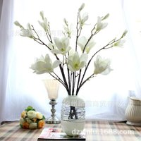 Wholesale silk magnolia flowers buy cheap silk magnolia flowers silk magnolia flowers high grade artificial flower silk flower branches jade spring magnolia home furnishing mightylinksfo Images