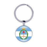 Wholesale coat holder - Coat of arms of Keychain Colombia Argentina Ecuador Bolivia Paraguay Country Flags Ker rings Men Women Jewelry Car Key holder Wholesale