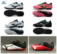 Wholesale neo silver - 2018 Mizuno Rebula V1 BASARA AS WID FG NEO II Soccer Shoes Boys Maillots de Football Boots indoor Ourdoor Youth Cleats chaussures 39-45