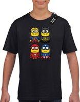 impresión minion al por mayor-SUPERHERO MINION KIDS NIÑOS CAMISETA TOP AVENGER FUNNY HULK FAN BOYS (COL) Camiseta con estampado de regalo Camiseta de Hip Hop Camiseta con estilo NUEVO LLEGADA