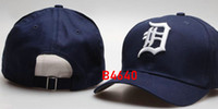gorras americanas para mujeres al por mayor-Nueva marca Detroit Cap Hip Hop Tigers sombrero strapback hombres mujeres Gorras de béisbol Snapback sólido algodón hueso American American moda sombreros