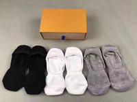 Wholesale Shoe Brush Wholesale - Fashion New Summer women Cotton Bamboo fiber Socks Low Socks Cotton Seamless Invisible Socks Sock Slippers For women 6 pairs 3 color