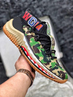 Wholesale shark art online - 2018 Discount Damian Lillard Shark Men Basketball Shoes Dame s Camo Green Red WGM Sports Mens Trainers Zapatos Sneakers Chaussures