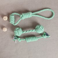 Wholesale toy cleaning supplies - Pet Cotton Rope Dog Toy Teeth Toys Pet Molar Clean Teeth Toy Supplies Chew Knot Toy Durable Braided Bone Rope
