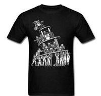 erkek kısa kollu gömlek resmi toptan satış-Resmi Gömlek Kısa Kollu Düzenli Anarşi Kulesi Devrimi Ekip Boyun Erkek Tee Gömlek