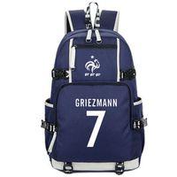 Wholesale antoine griezmann resale online - 7 backpack Antoine Griezmann daypack Soccer france star schoolbag Laptop rucksack Sport school bag Outdoor day pack