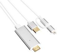 mhl hdmi hdtv adapter großhandel-Micro USB Blitz 2 in 1 MHL Kit HDTV Audio- und Video-AV-Kabel-Konverter-Adapter Unterstützung 4k 60Hz.