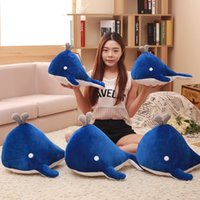 golfinho azul de pelúcia venda por atacado-Nova moda infantil brinquedos boneca baleia azul criativo golfinho brinquedos de pelúcia crianças conforto bebê boneca de presente de aniversário