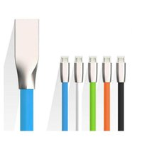 Wholesale lg 3d phone - 1M 3FT 3D Zinc Alloy Metal USB Cable Micro USB Type-C For Phone Samsung SONY HUAWEI 5S P9 2.4A Fast Charging Data Transfer Sync Charge Wire