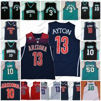 Wholesale men s basketball 13 online - Arizona Wildcats DeAndre Ayton NCAA Vancouver College Basketball Mike Bibby Shareef Abdur Rahim Reeves green Retro Jerseys