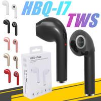 bluetooth móvel universal venda por atacado-Fone de ouvido HBQ I7 fone de ouvido bluetooth TWS Gêmeos Mini Bluetooth Earbud fone de ouvido sem fio Para O Telefone Móvel pacote de Varejo