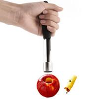 semillas de envío gratis al por mayor-Apple Corer, acero inoxidable, fruta, pera Corers, removedor de semillas, Pitter, Easy Twist, cocina, Corer, envío gratis
